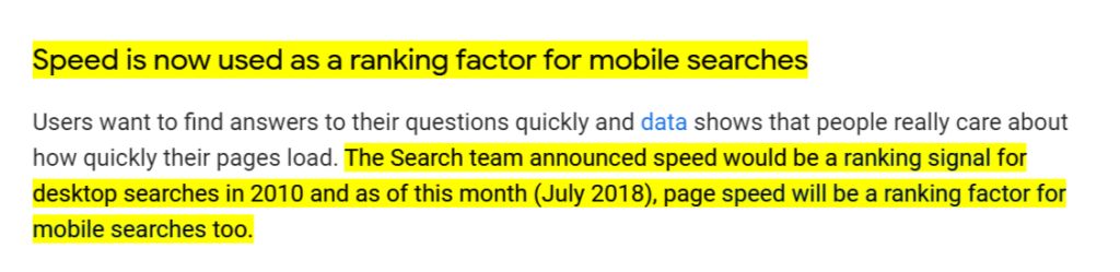 Is Speed is a Google Ranking Factor