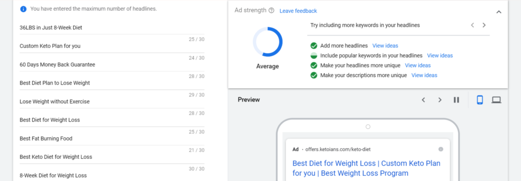 Using Google Ads for Title and Meta Description
