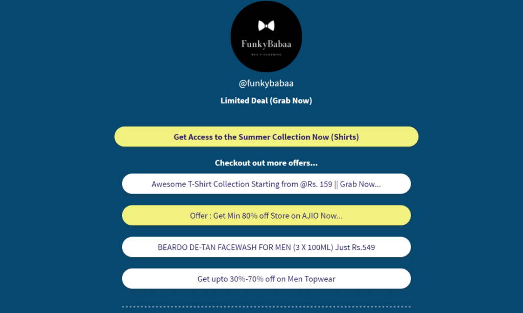 Landing Page Example Funkybabaa