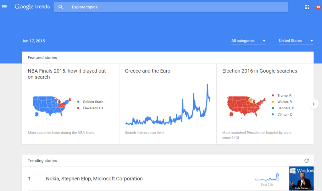 How to trending content ideas using google trends