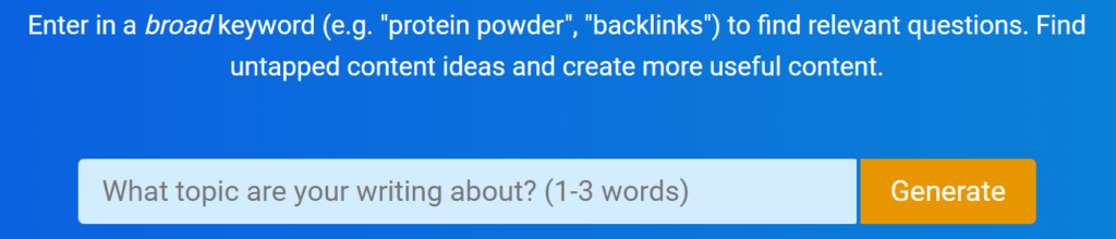 How to find untapped keywords on QuestionDB.io