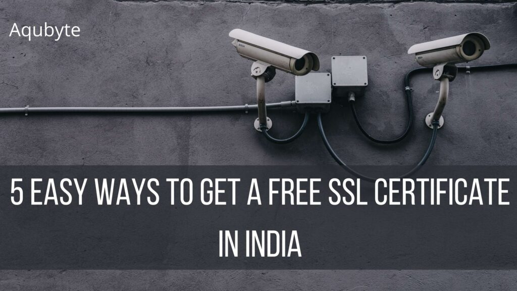 How to get free SSL certificate in india